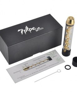 Pipa Herbal 7pipe Twisty Dorado, vaporizador de hierba a altas temperaturas